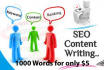 write 1000 Words Unique and SEO Friendly Article