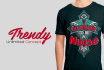 create a Trendy t shirt design for teespring