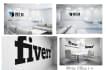 design 7 realistic virtual office mockup