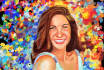 paint a vivid color portrait like this