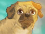 draw a cartoon portrait of a pet or other animal