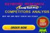do SEO Keyword Research and Competitor Analysis for Google 1st Page Ranking