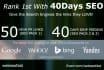 rank you 1st in Google, 50 PR10 Niche Backlinks, 40days SEO