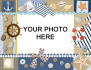 add your image to this nautical seaside frame