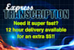 transcribe 5 minutes of audio or video in 24 hours
