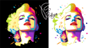 draw portrait in WPAP style