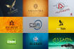 design 2 exclusive logo concept in 12 hours with free mockup
