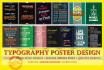 do creative awesome typography poster design