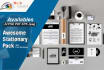 design Awesome Stationary Pack and Business cards