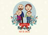 create a custom family portrait for christmas