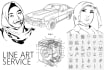 vector, Redraw, Line art,Trace your any Picture