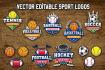 design stylish sports logo