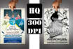 design 2 AMAZING flyers or broshure in 24hrs 300dpi hi def