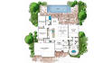 create 2D floor plan to colorful with interior