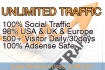 give Unlimited Organic Traffic for one month
