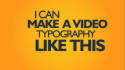 create kinetic typography animation