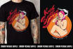 design custom t shirt in my vector style