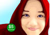 draw your photo be a awesome cartoon, Vector face