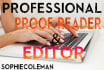 professionally proof read and edit your work