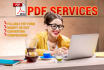 do Any PDF Job Professionally