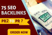 create 75,backlinks for seo