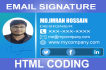 do Email signature PSD templete or Html coding