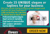 create 15 Perfect TAGLINES or slogans for your brand,startup