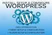 plugin install and customize WordPress theme