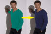 color change of 5 images of yours clothes,