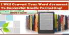 format your word doc into kindle format