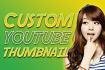 design a custom youtube thumbnail