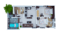 create 3D floor plan from 2D Layout