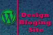 make blog website for you