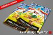 design Brochuer,Flyer,Poster unlimited revisions in 24 hrs