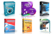 design Professional 3D Software Box cover with 3D Animation