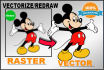 trace,vectorize,convert,redraw your 2 Logo in 2 to 12 Hours