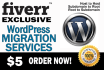 transfer or migrate or Clone WordPress site to new host or domain