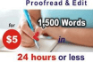 proofread and edit any type of word document