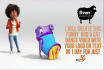 make funny Boo and Cat dance video with your logo