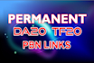 create permanent 3 back links DA30 and TF30
