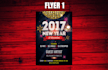 design a 2017 new years flyer poster