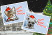 draw a merry merry Christmas toon