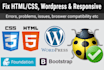 fix your wordpress website errors, bug or issues