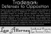 draft Trademark, Patent Opposition and Defense