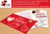 design flyer or card for VALENTINE