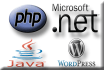 make code in php, dotnet, jsp and erp, cms