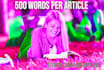 write a perfect 500 word SEO article