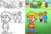 draw Colorful CARTOON scenes