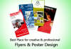 design your any types of poster or flyer needs