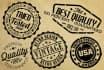 design vintage retro logo or stamp
